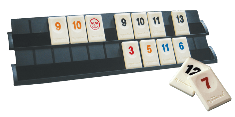 Rummikub rack and pieces