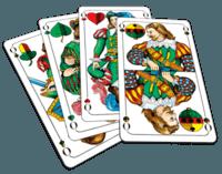 Skat card game playing cards