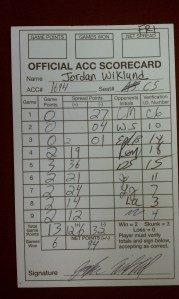 Score card Cribbageland
